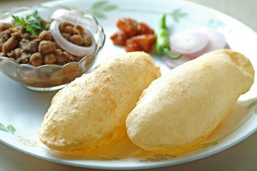 Chole Bhature: Delhi, The capital of India is one of the best place to have street foods, Best chole bhature in Gaffar market - corner stall (Karol bag, New Delhi).