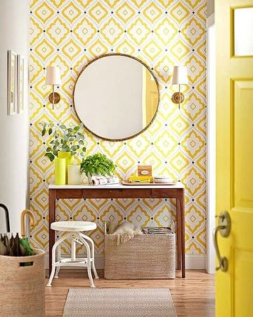 Love The Golden Yellow In This Foyer Found In Bhg Loved By Me