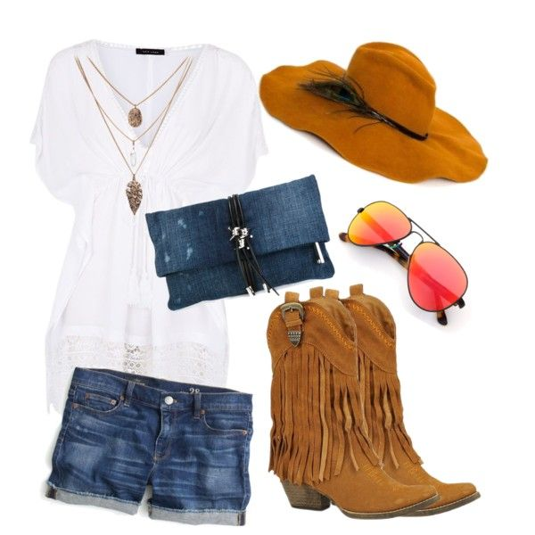 cowboy spirit by czumaczech on Polyvore featuring polyvore fashion style J.Crew Very Volatile Dsquared2 Lisa Battaglia