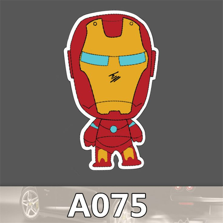 A-075 Personality Sheet Iron Man Waterproof Stickers Car And Motorcycle Trolley Car Stickers Car Stickers Graffiti Cartoon  #handbags #shoulderbags #bag #kids #fashion #Happy4Sales #YLEY #bagshop #highschool #L09582