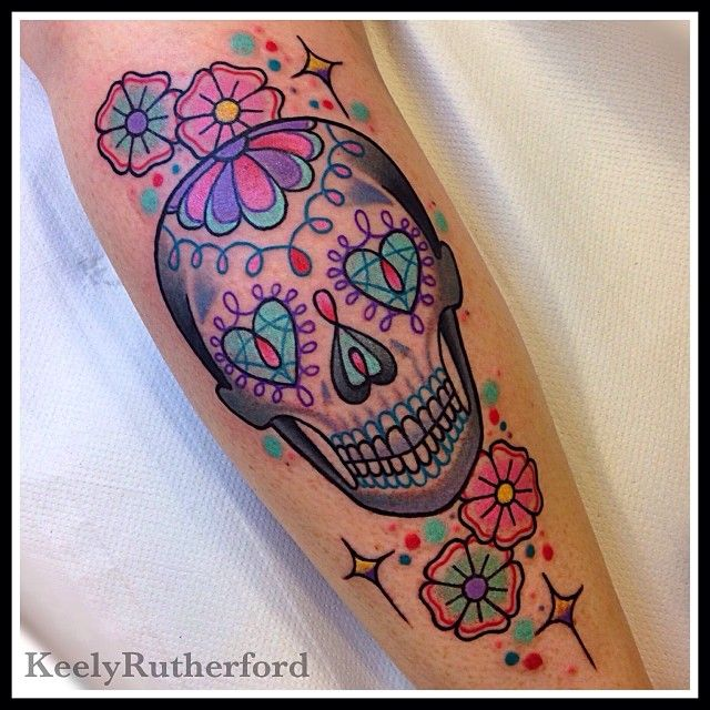 Sugar Sugar  On the fabulous Claire.. Thank you lovely, was a pleasure tattooing you x (at East Side Tattoo)