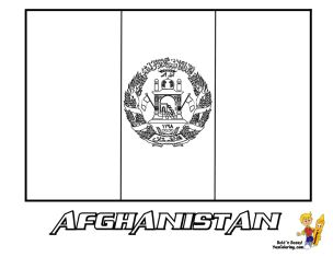 Afghanistan Flag Coloring Pages at YesColoring
