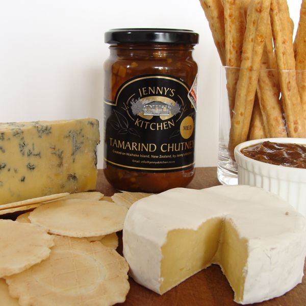 Jenny's Tamarind Chutney is utterly divine with cheese. Mild and Medium are pure magic with milder cheeses, and try hot with 'stinkier' cheeses, like blue or goats cheese. http://jennyskitchen.co.nz/blog/jennys-tamarind-chutney-and-cheese-a-match-made-in-heaven/