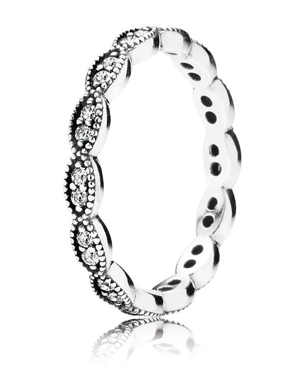 PANDORA Ring - Sterling Silver & Cubic Zirconia | Bloomingdale's (Promise ring)
