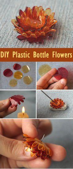 DIY Plastic Bottle Flowers Tutorial http://www.free-tutorial.net/2017/04/diy-plastic-bottle-flowers-tutorial.html