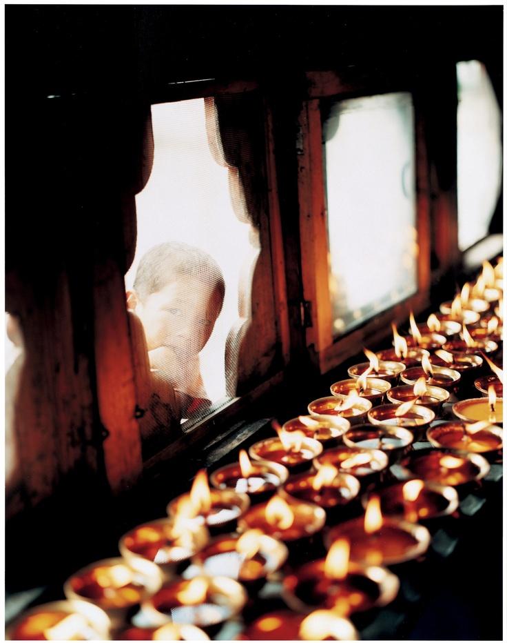 Butter lamps, Bhutan.