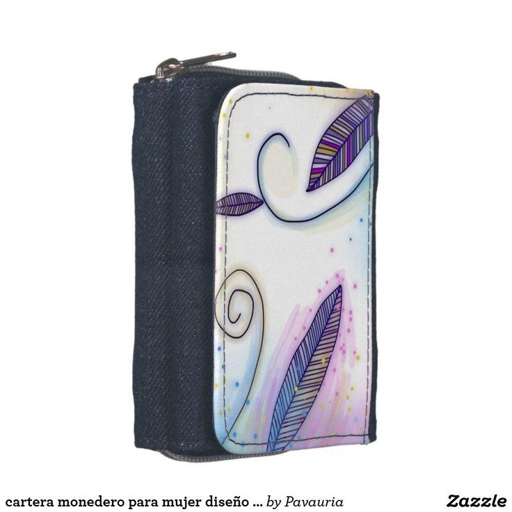 CARTERA MONEDERO para mujer diseño primaveral, estampado con ilustración de acuarelas originales de Pavauria. Precio: 26,10 € Compra pulsando en la imágen.