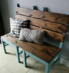 Sitzbank aus Paletten – #außenküche
