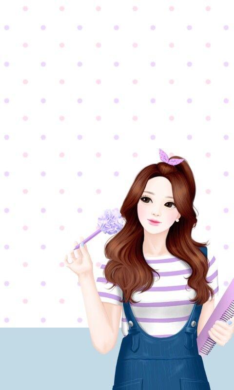 cute korean cartoon wallpaper for phone wallpaper images