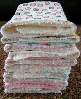 Best burp rags ever!!! Free tutorial! Great Gift Idea too for new moms.