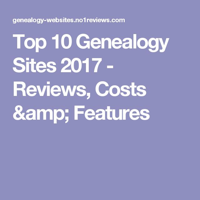 Top 10 Genealogy Sites 2017 - Reviews, Costs & Features