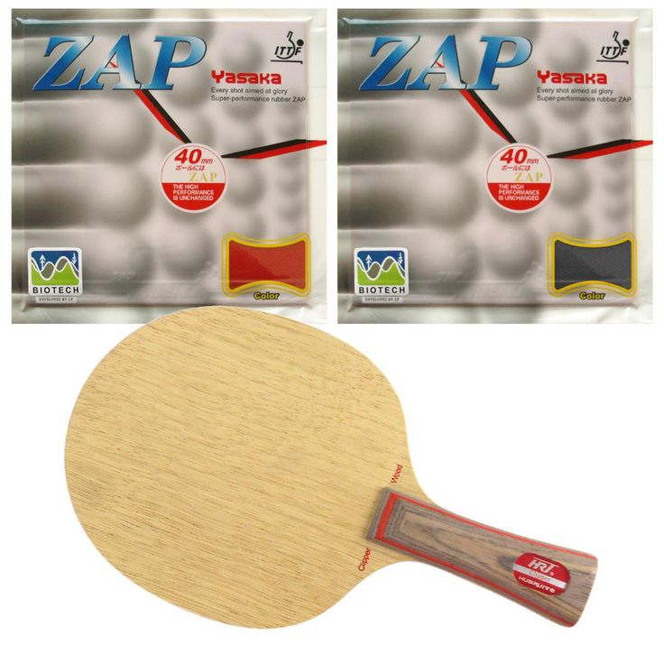 HRT 2091 Blade with 2x Yasaka ZAP BIOTECH 40mm NO ITTF Rubbers for a Racket Shakehand long handle FL #Affiliate