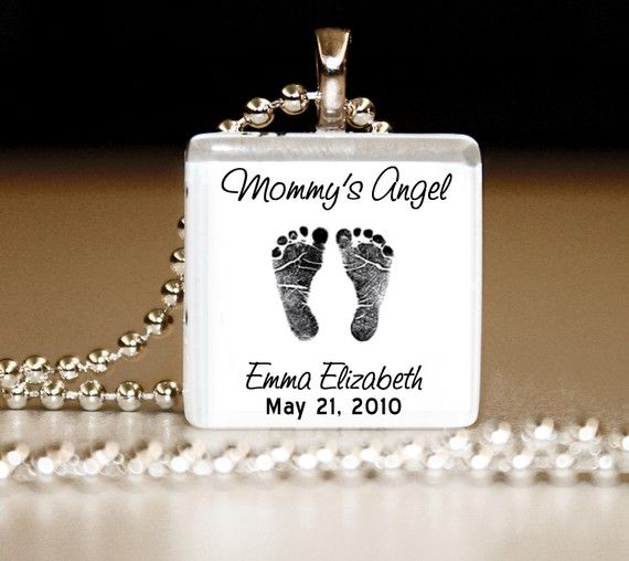 Mommy's/Daddy's+Angel++Glass+Tile+Pendant+by+bugaboojewelry,+$10.00