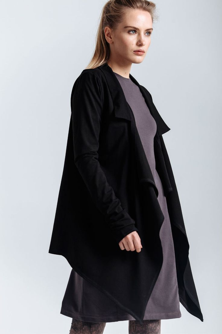 Cardigan mantle made of thin jersey. Small collar, the front part is elongated.   #mariashi #fashion #nofilter #outfit #outfitoftheday #outfits #outfitpost #clothes #fashionista #fashiondesigner #shopping