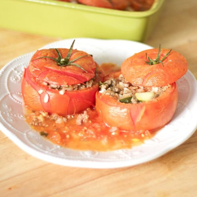 114 best greek foodrecipes images on pinterest greek recipes greek stuffed tomatoes with rice and meat forumfinder Choice Image