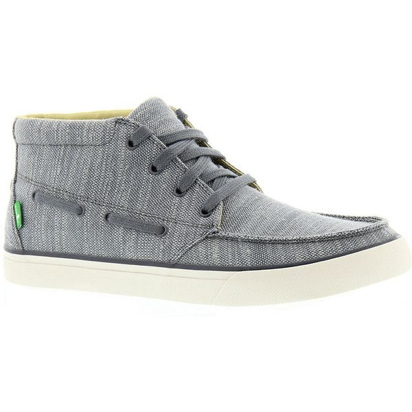 Sanuk Sea Mid Men's Grey Boot ($65) ❤ liked on Polyvore featuring men's fashion, men's shoes, men's boots, grey, mens boat shoes, mens grey shoes, mens rubber sole shoes, mens gray shoes and sanuk mens shoes