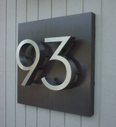 House numbers for eichler mid century modern homes - House number plaque ideas ...