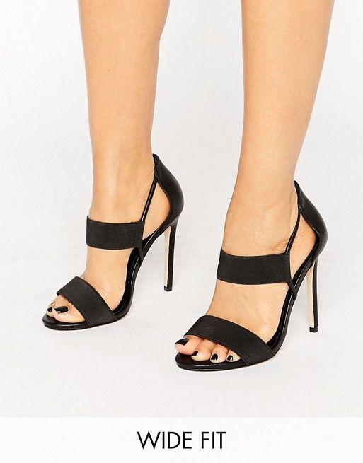 ASOS | ASOS HYDRA Wide Fit Elastic Detail Heeled Sandals