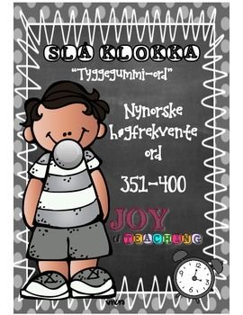 """*NYNORSK* This is the eight of 10 High-frequency sets in Norwegian! Set # 8 - Grey""""Beat the Clock"""" is a great and engaging word activity for students to master fast recognition of high-frequency words. My students L-O-V-E it! I use this system from grade 1-6 throughout the whole school year."""