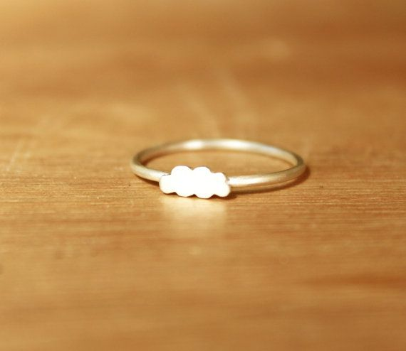 Tiny Stratus Cloud Ring Sterling Silver by mujoyas on Etsy