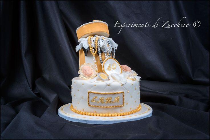 Gold and jewel cake