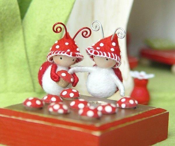 Игрушки-куколки из фетра