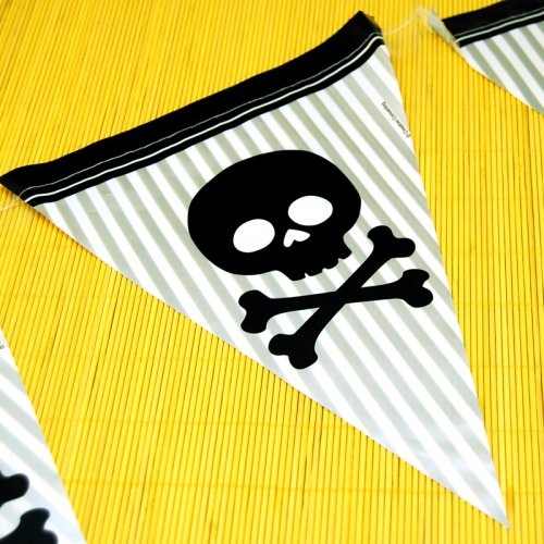 Pirate Parrty Flag Banner by Beau-coup