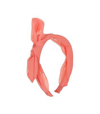 Coral Bow Alice Band