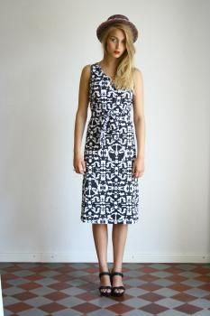 R/H SS13 Collection - Debbie Knot Dress in Mosaik