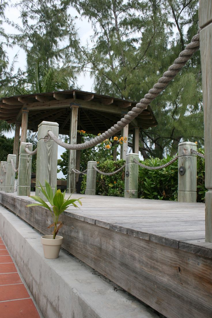76 best images about dock ideas on pinterest cable for Garden decking with rope