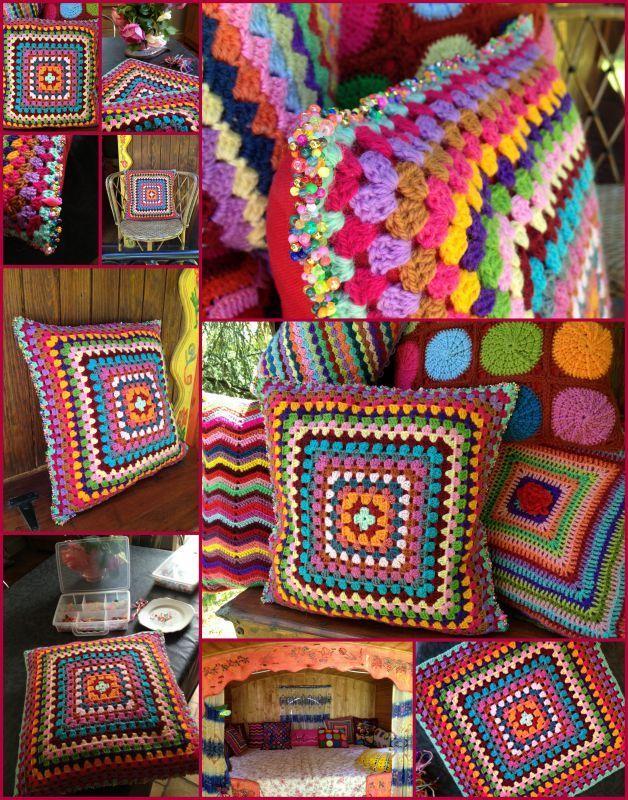 coussin au crochet faire du crochet et du tricot. Black Bedroom Furniture Sets. Home Design Ideas