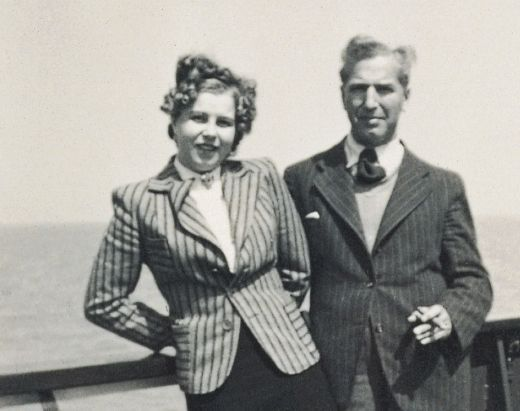 Charlotte Kaletta and Fritz Pfeffer in 1939. Marrying a non-Jewish woman might possibly have saved Fritz Pfeffer's life. They couldn't actually get married because Nazi laws prohibited marriages between German Jews and non-Jews. These laws also affected German Jews abroad.