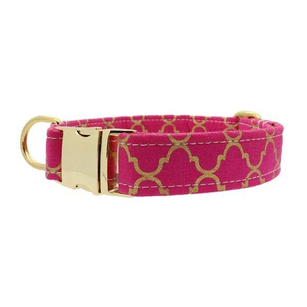leuke roze halsbanden voor honden | hondenwinkel online