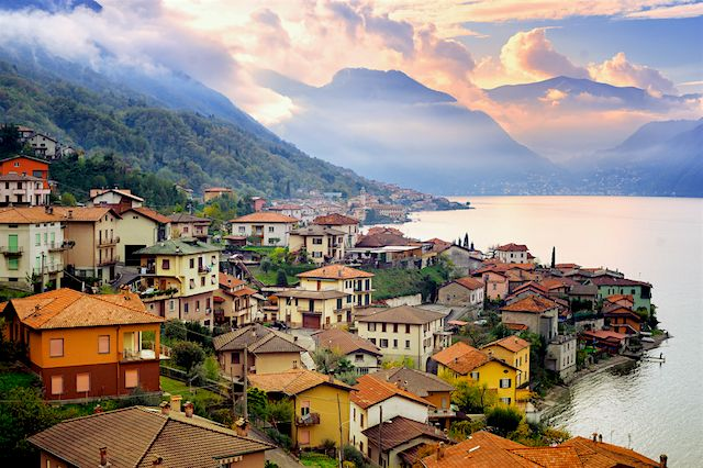 Lake Como, Italy One of the largest lakes in the Italian Lake District, Lake Como is bordered by some of the most beautiful lakeside villages, including the quaint town of Bellagio with its narrow streets and stunning villas. Head to the main town of Como to see some of the region's most famous sights, including the 11th century Basilica of Sant'Abbondio, and a climb to the top on the Brunate funicular for some impressive views of the region. Como is also a popular stop for its silk…
