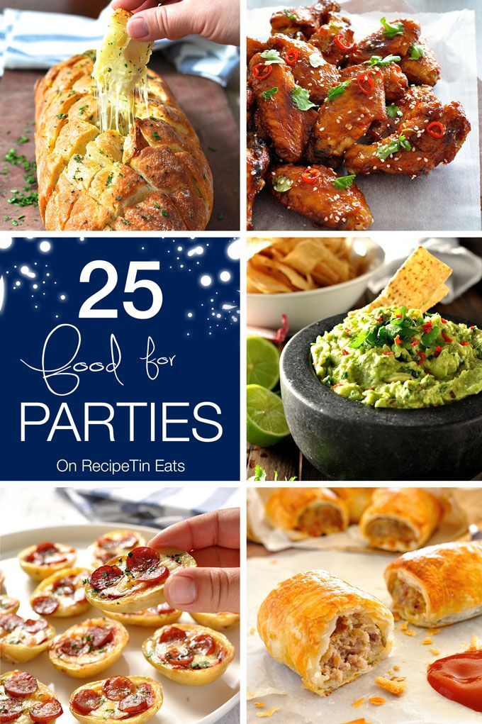 Party Food Round Up - 25 recipes from RecipeTin Eats that are great for party food! Fast to make and/or make ahead. | NEW YEAR'S EVE PARTY FOOD!