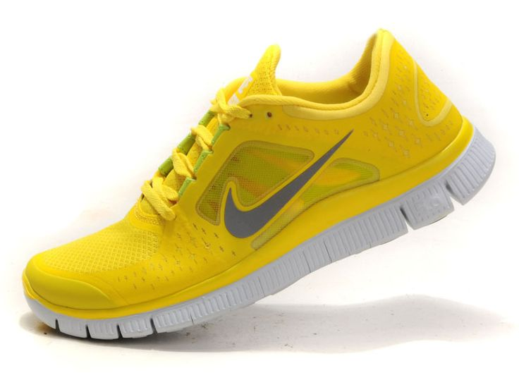 Nike Free Run 3 Shield Nike Running Shoes - Yellow Gray White on sale,for