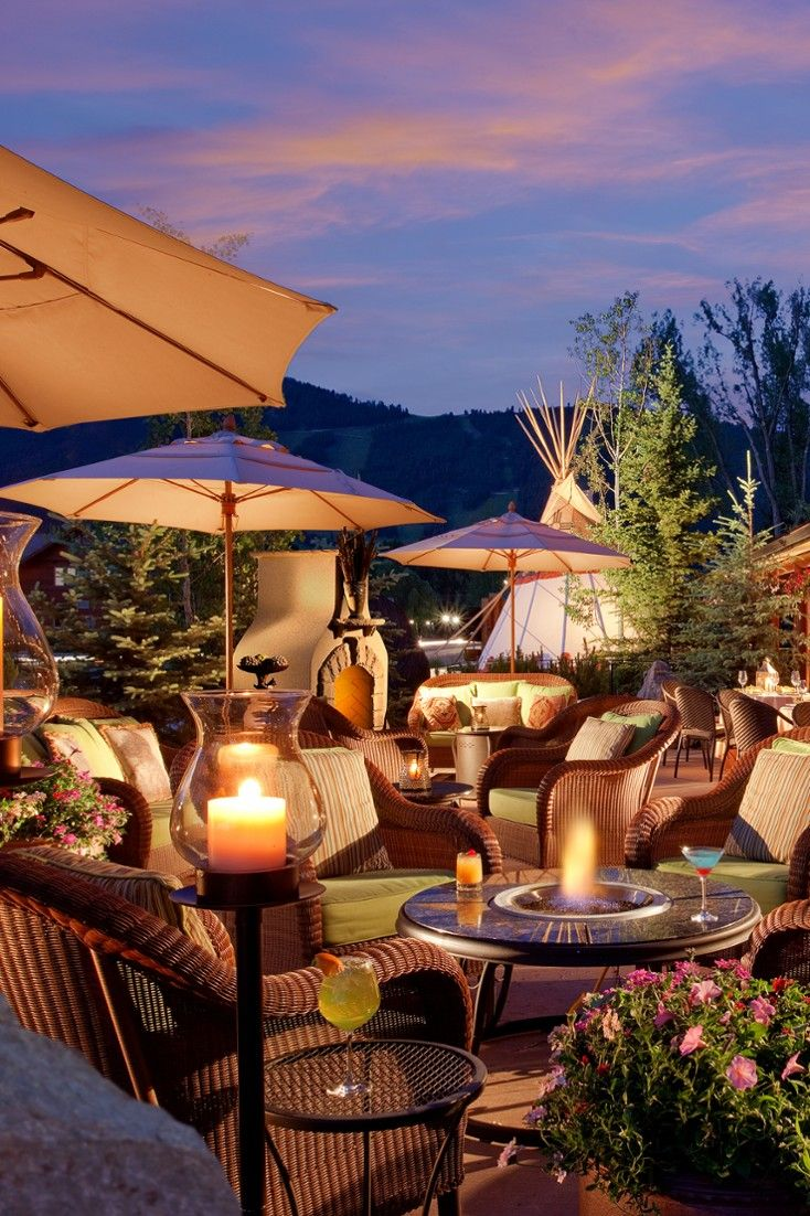 Rustic Inn's firepits allow you to enjoy the evenings outside, even when it gets chilly. #Jetsetter Rustic Inn (Jackson Hole, Wyoming)