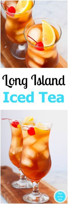 Happy Thirsty Thursday! All in all it's been an good week and this Long Island Iced Tea is a delicious cocktail to finish off a great week! via @momontheside
