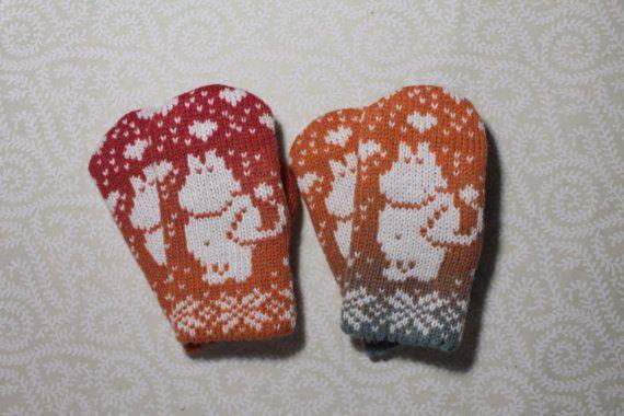 Эксклюзивные варежки ручной работы для детей с узором от LanaNere