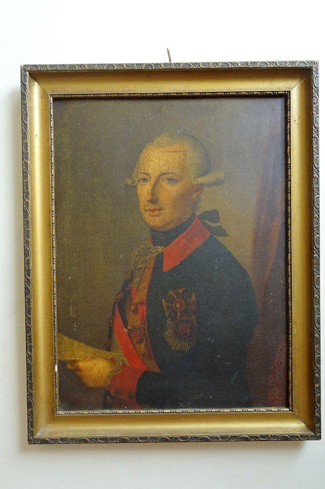 Habsburg Lothringen Joseph II. Römischer Kaiser Frame Portrait Chevaux Legers  | eBay