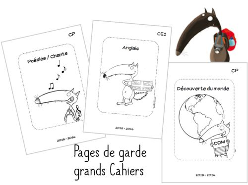 Pages de garde Cycle 2