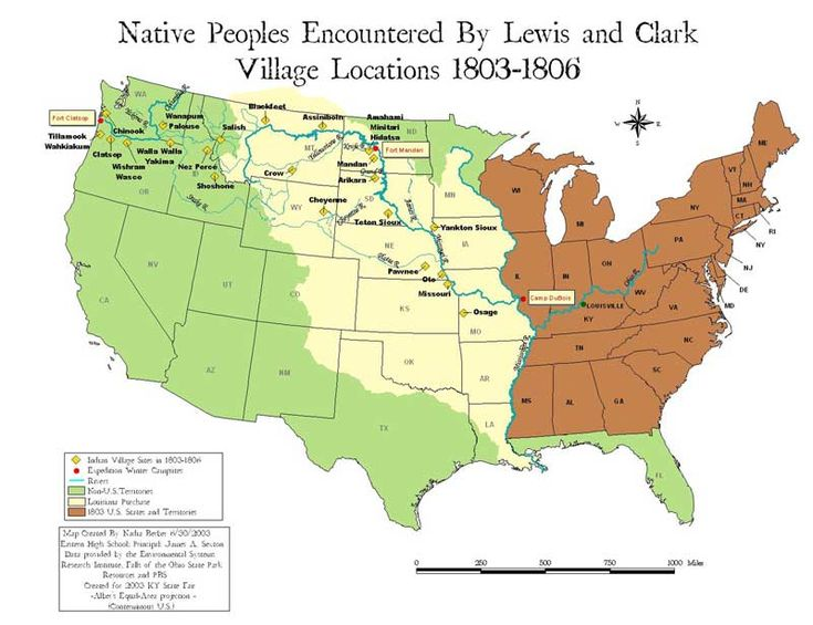 map of lewis and clark journey