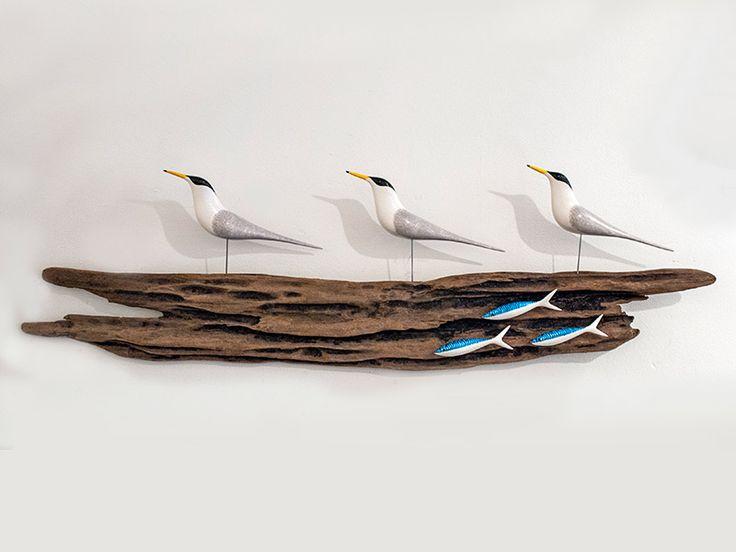Junction Art Gallery - Little Terns with 3 Wee Mackerel £395.00 http://www.junctionartgallery.co.uk/artists/sculpture/mike-lythgoe/little-terns-with-3-wee-mackerel