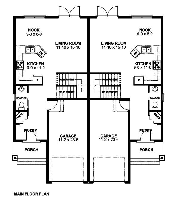 1000 images about duplex designs on pinterest duplex for Duplex plans canada