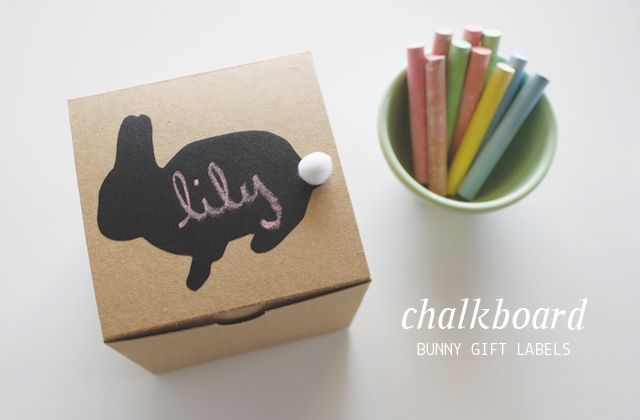 Chalkboard Bunny Gift Labels from Dandee