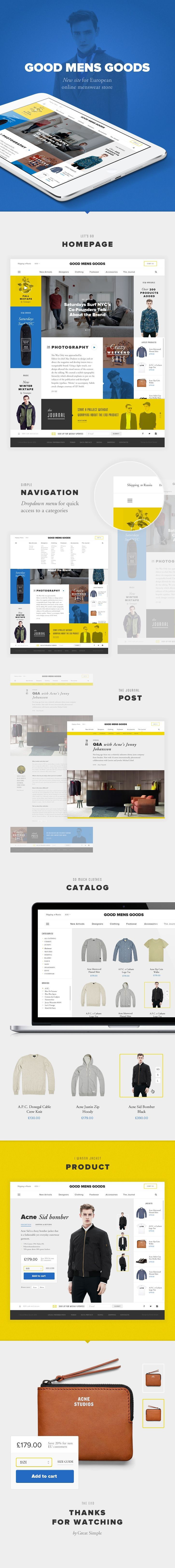 it's clean. love the product detail page. big background image and combination of typefaces in title. #ecommerce #webdesign
