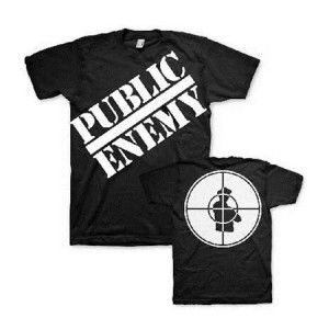 Public Enemy Classic Logo Tee - Be the target with this Public Enemy Classic Logo T-Shirt. 100% cotton, black shirt with the iconic Public Enemy logo on the front and a target on the back.