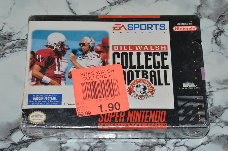 NEW - Bill Walsh College Football (Super Nintendo Entertainment System, SNES): $89.91 End Date: Friday Apr-6-2018 21:13:23 PDT Buy It Now…