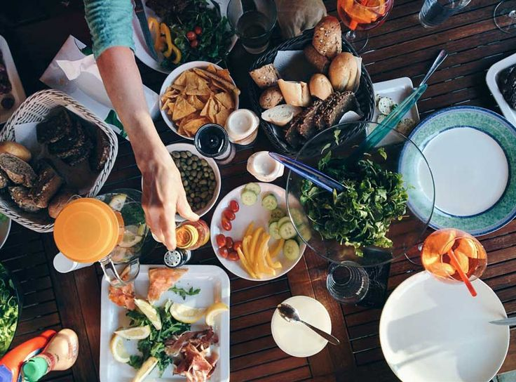 Summer barbeque feast
