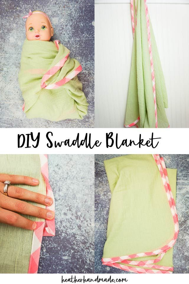 Diy Swaddle Blanket For Baby Heather Handmade In 2020 Swaddle Blanket Diy Baby Sewing Tutorials Baby Sewing Projects